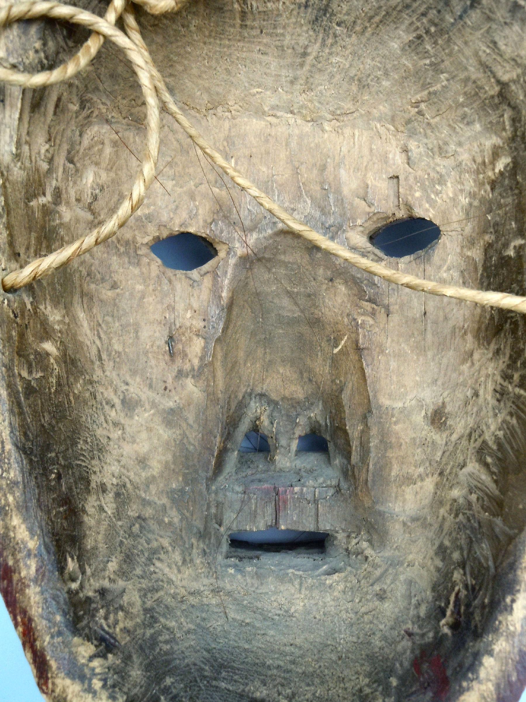 d8c857f6b09 IROQUOIS FALSE FACE MASK   SACRED TURTLE RATTLE – American Antiques